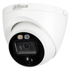 Dahua 5MP HDCVI Active Deterrence Turret Camera | HAC-ME1500EP-LED