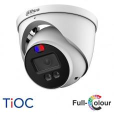 Dahua 4K TiOC HDCVI Active Deterrence Turret Camera | HAC-ME1809HP-A-PV